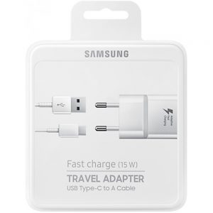 Samsung Galaxy original wall charger with USB-C type white kabel Hi Genius